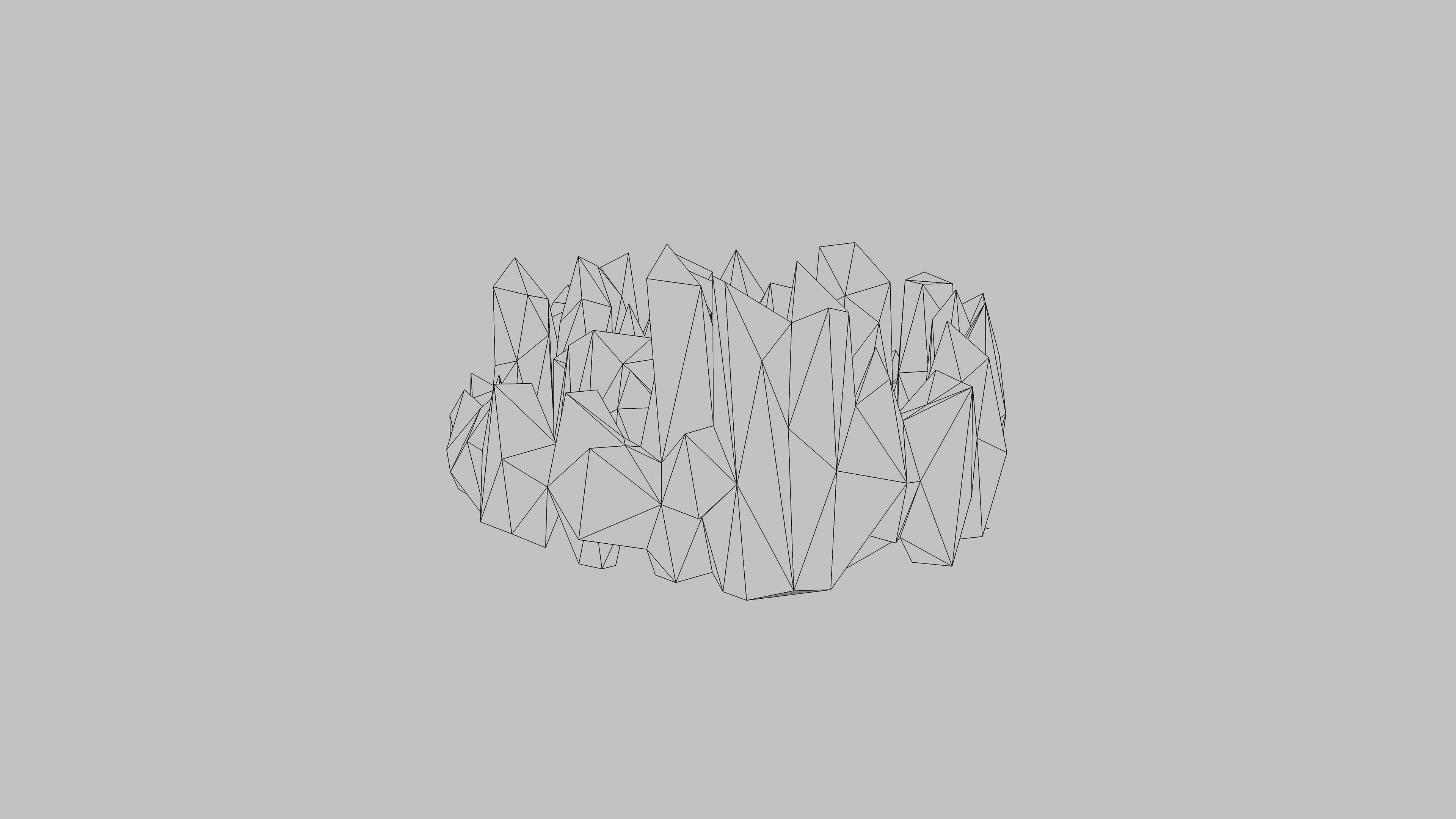 Am54 Metaballer Poly White Minimal Wallpaper