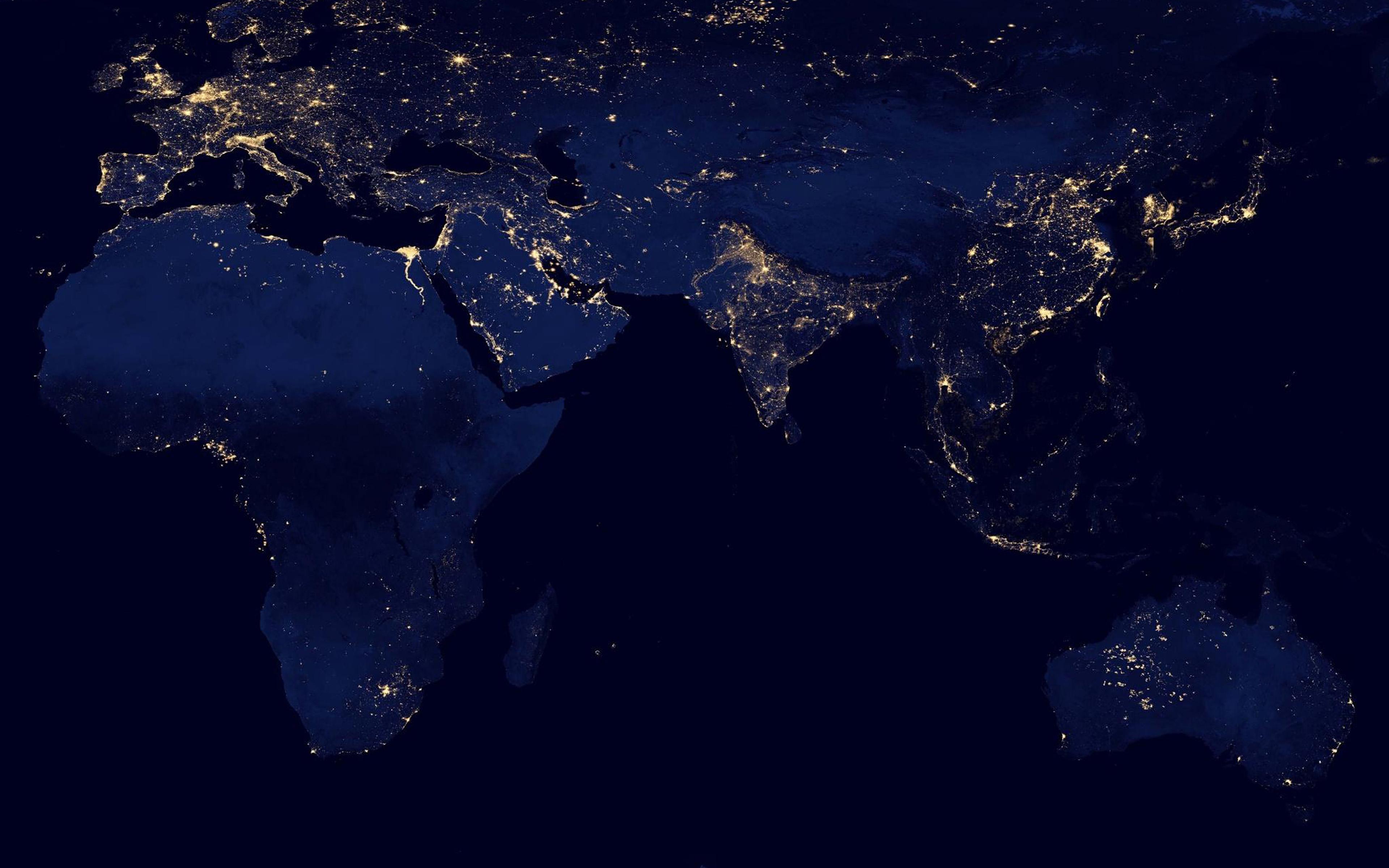 Am67 Worldmap Blue Dark Earth View Art Papers Co