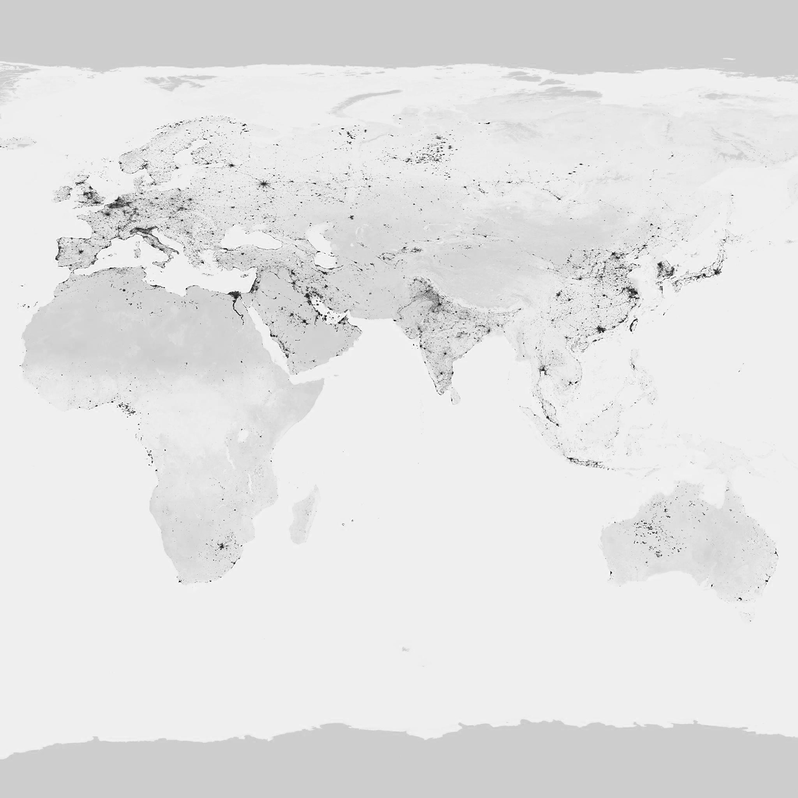 Amworldmapbluewhitegrayearthviewartwallpaper - World map ipad wallpaper