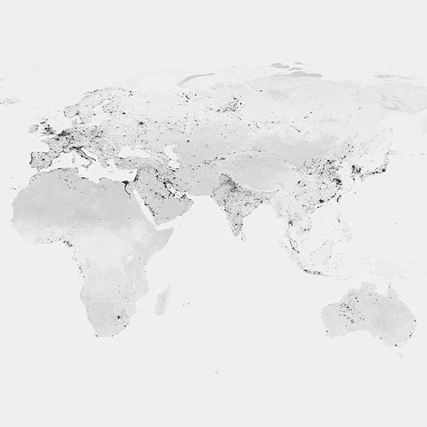 Am69 Worldmap Bw Dark Earth View Art Clear Papersco