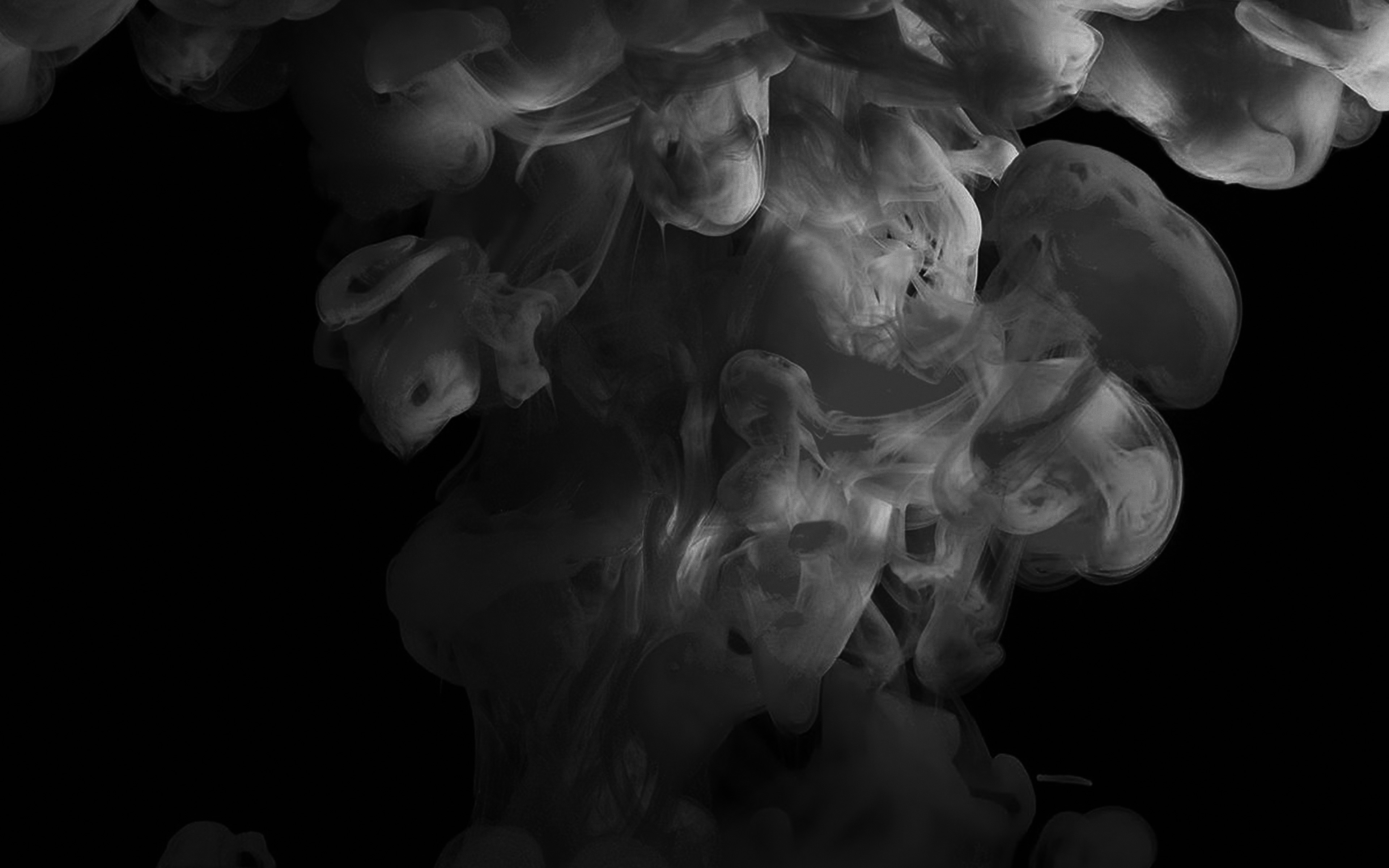 Papers Co Desktop Wallpaper Am72 Smoke Dark Bw Abstract