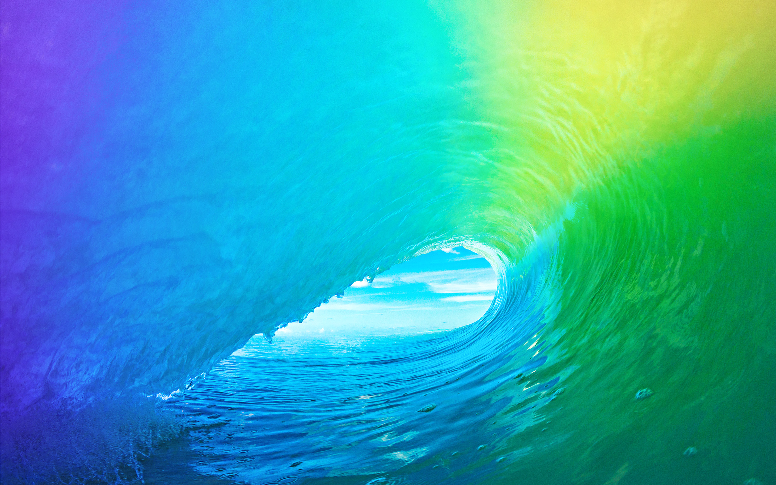 Am81 Ios9 Apple Wave Rainbow Sea Ocean Papers Co