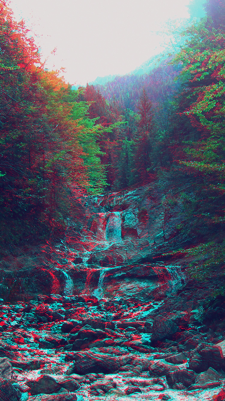 iPhonepapers.com-Apple-iPhone8-wallpaper-am90-anaglyph-mountain-green-nature-art
