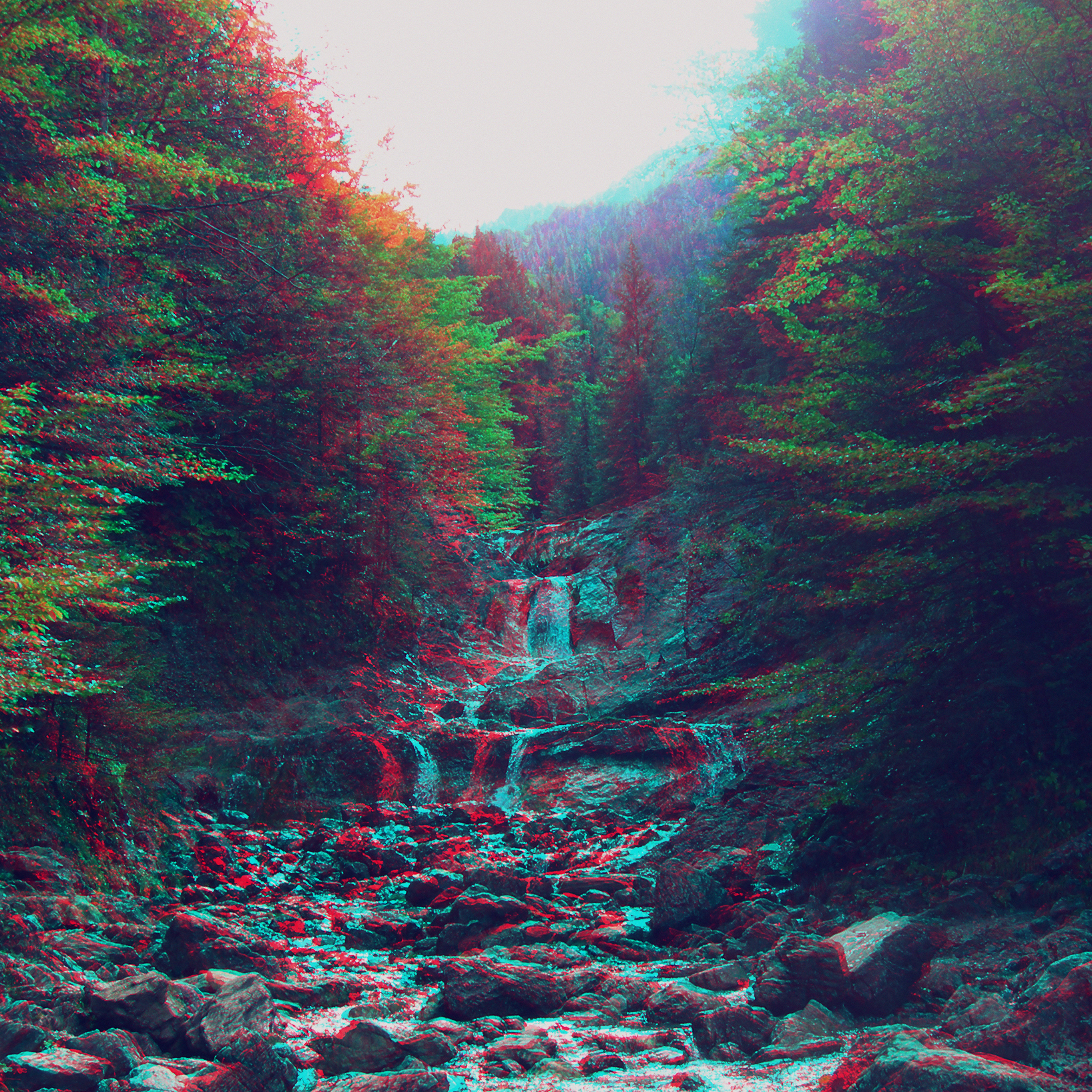 Am90 Anaglyph Mountain Green Nature Art Papers Co