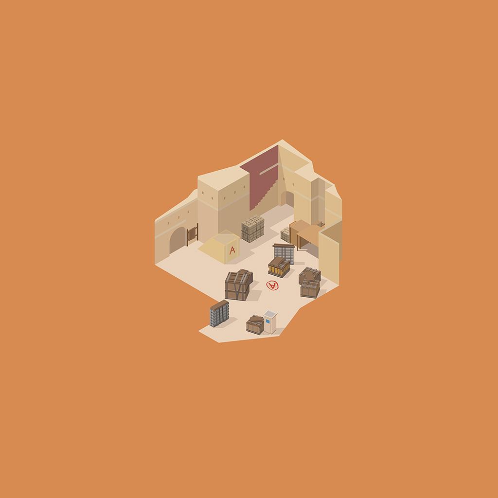 android-wallpaper-am94-orange-world-room-art-cute-minimal-wallpaper