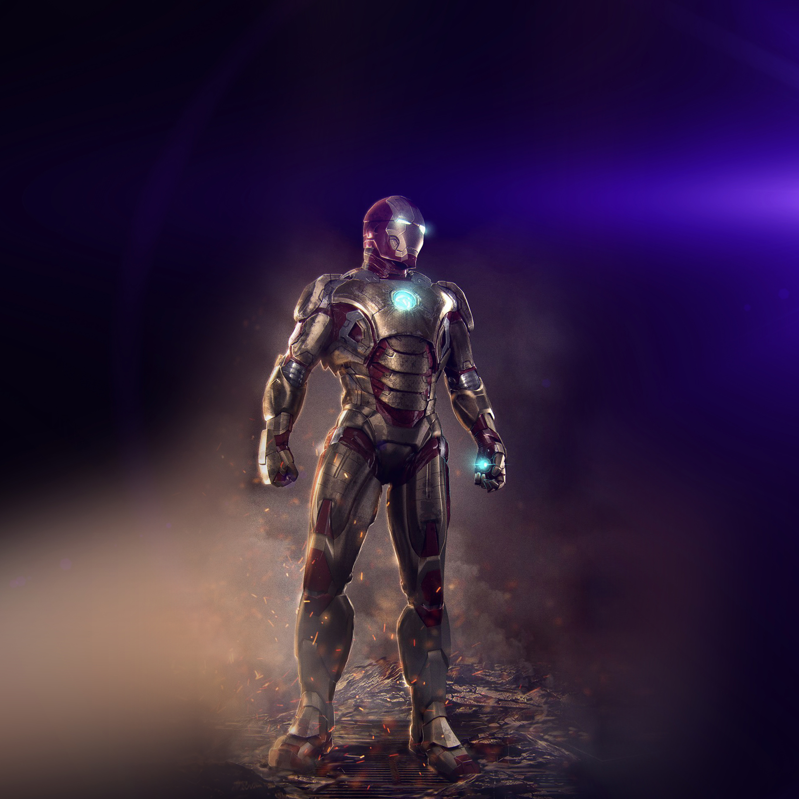 Wallpaper Iphone Superhero: An14-ironman-hero-marvel-art-illust-flare-wallpaper