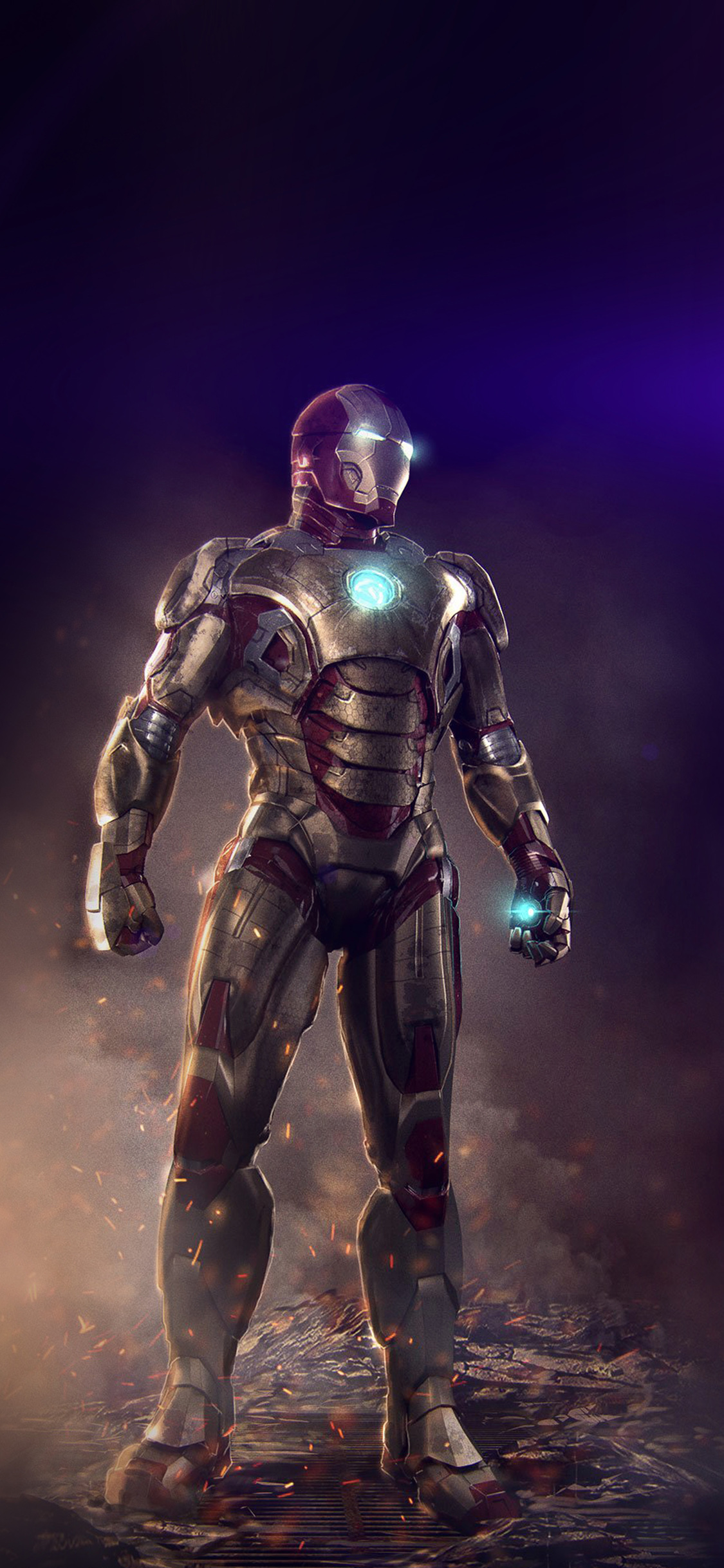 iPhoneXpapers.com-Apple-iPhone-wallpaper-an14-ironman-hero-marvel-art-illust-flare
