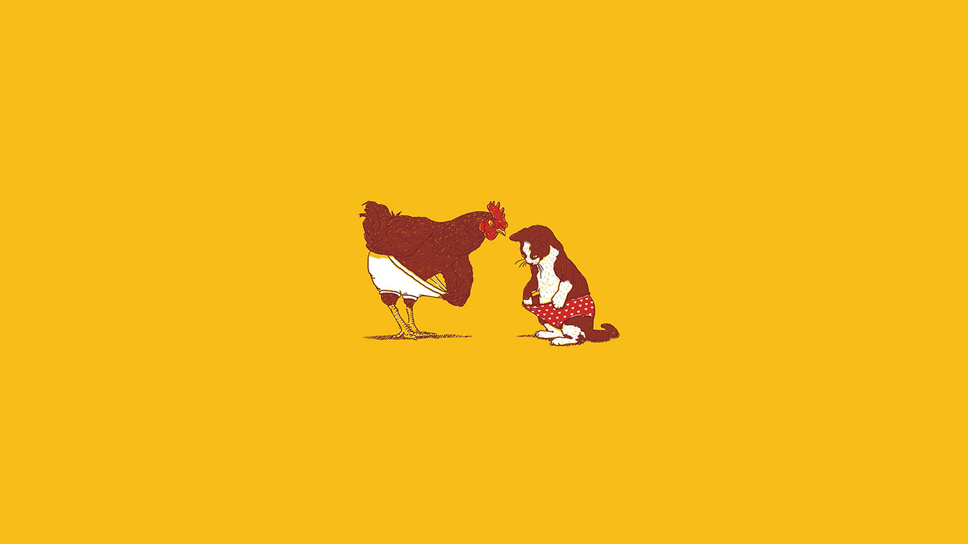 desktop-wallpaper-laptop-mac-macbook-airan19-rooster-and-cat-pant-cute-fun-illust-art-wallpaper