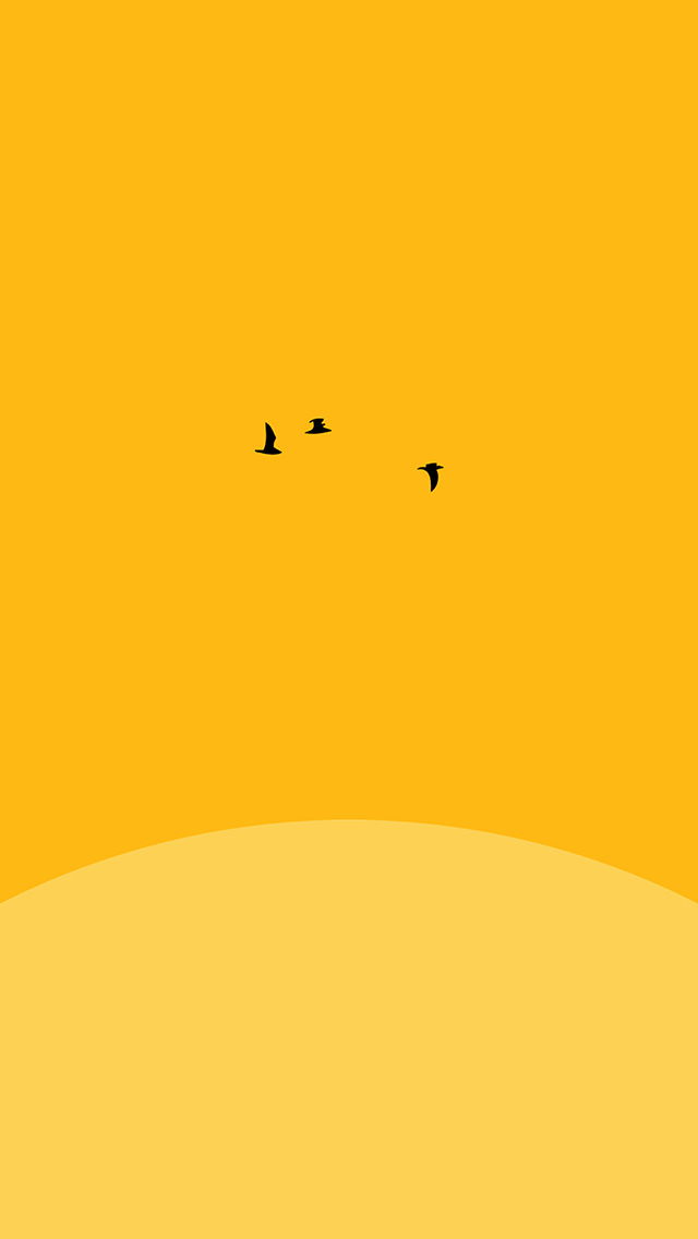 freeios8.com-iphone-4-5-6-plus-ipad-ios8-an22-sunset-yellow-bird-minimal