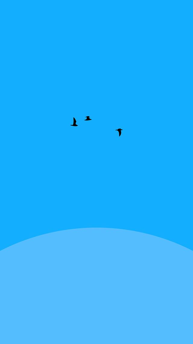freeios8.com-iphone-4-5-6-plus-ipad-ios8-an23-sunset-blue-bird-minimal