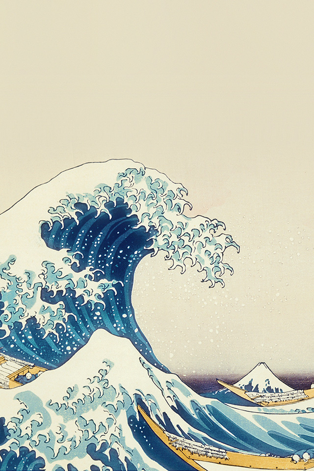 An25 Wave Art Hokusai Japanese Paint Illust Classic