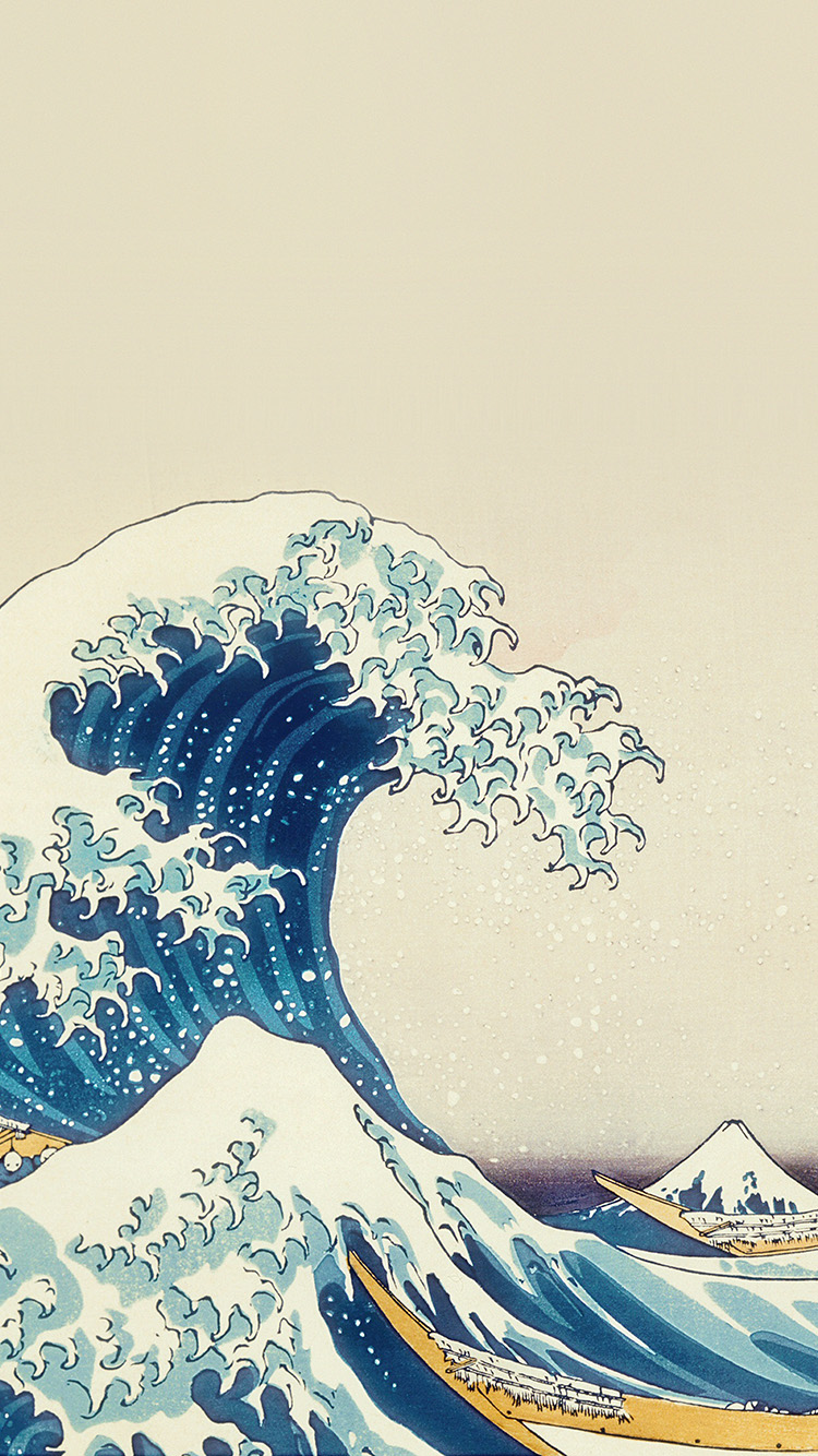 iPhonepapers.com-Apple-iPhone8-wallpaper-an25-wave-art-hokusai-japanese-paint-illust-classic