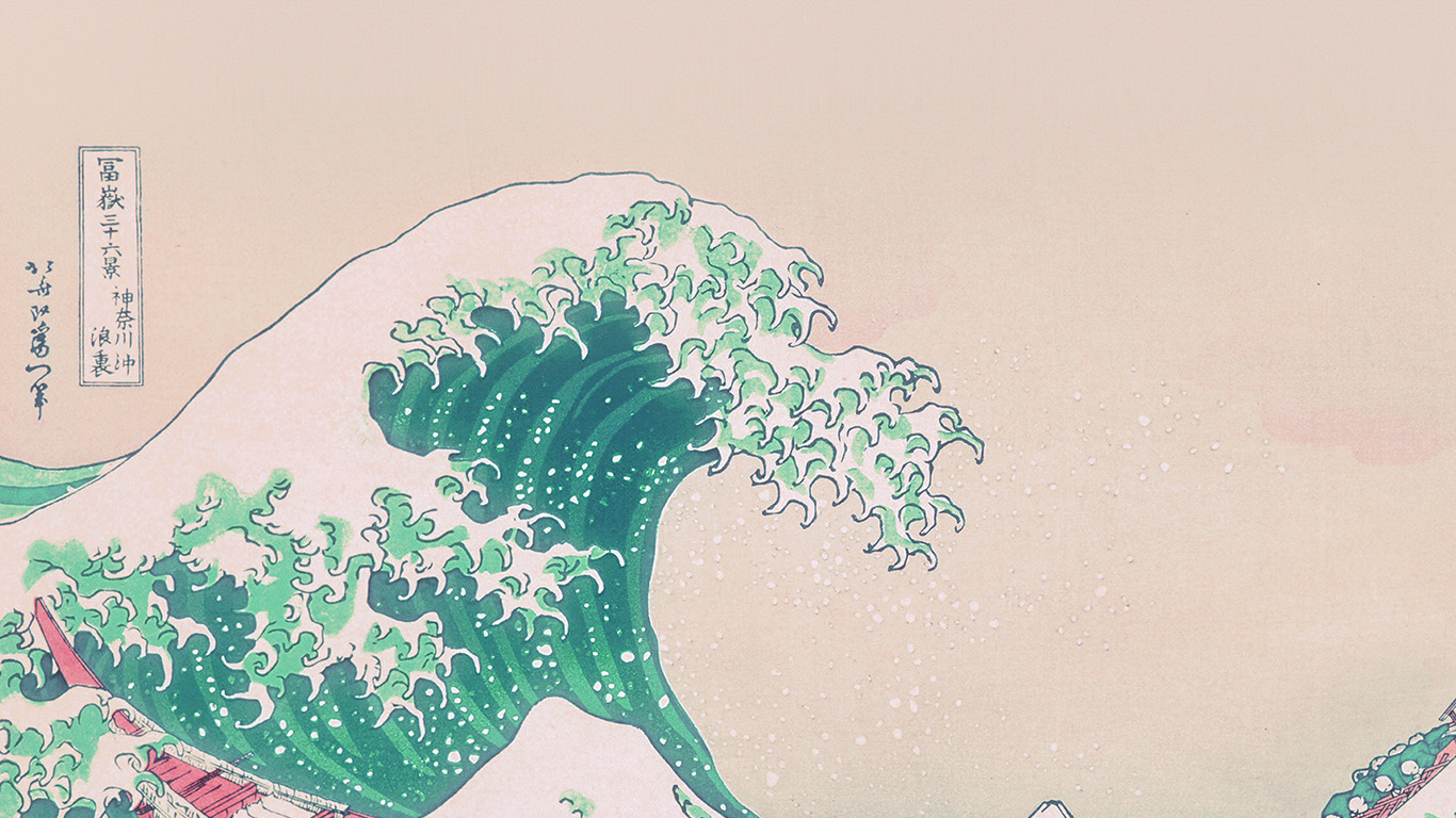 desktop-wallpaper-laptop-mac-macbook-airan26-wave-art-hokusai-japanese-green-illust-classic-wallpaper