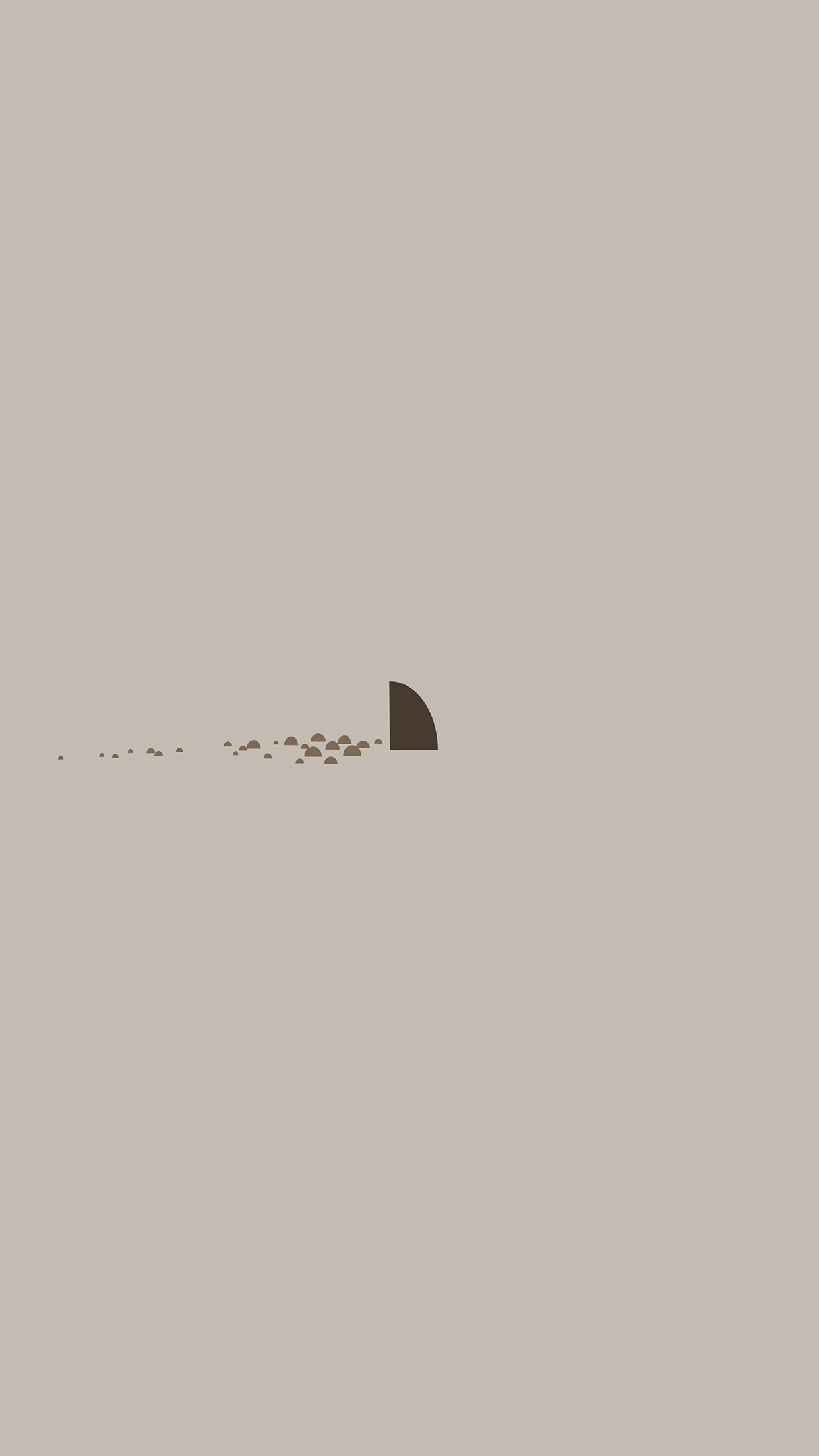 An33 Minimal Simple Shark Sea Illust Art Cute Wallpaper