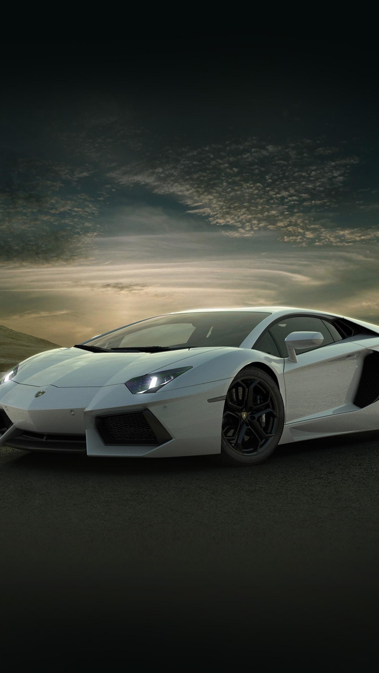 Iphone7papers An41 Lamborghini Car Exotic White Art