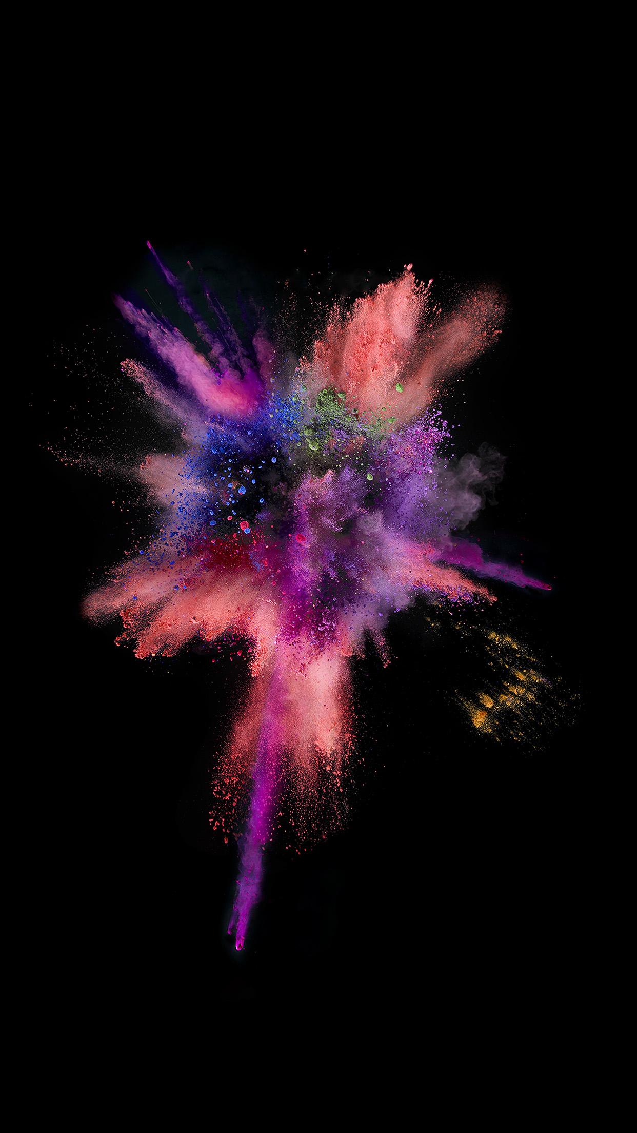 Iphone6papers An55 Apple Dark Spark Ios9 Iphone6s Color Rainbow