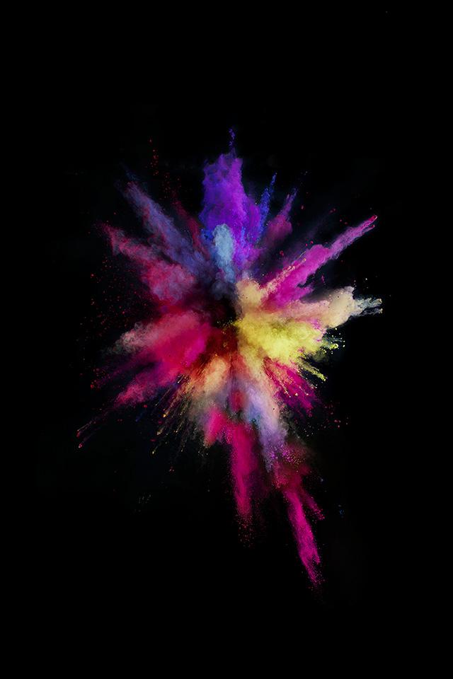 An57 Apple Color Rainbow Red Dark Spark Ios9 Papers Co