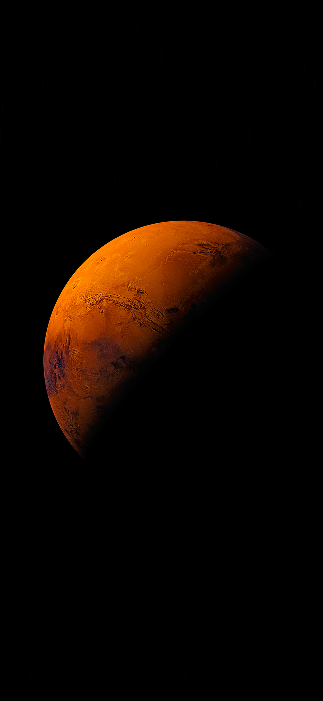Iphone11papers Com Iphone11 Wallpaper An62 Mars Planet Apple Dark Space Orange