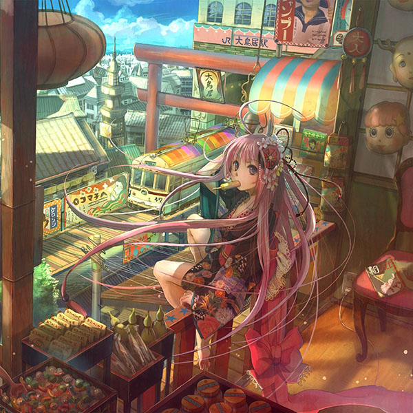 An74 Girl Anime Icecream Art Drawing Papers Co