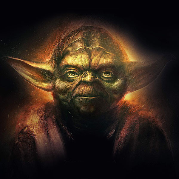 An79 Yoda Starwars Art Dark Illlust Film Poster Papers Co