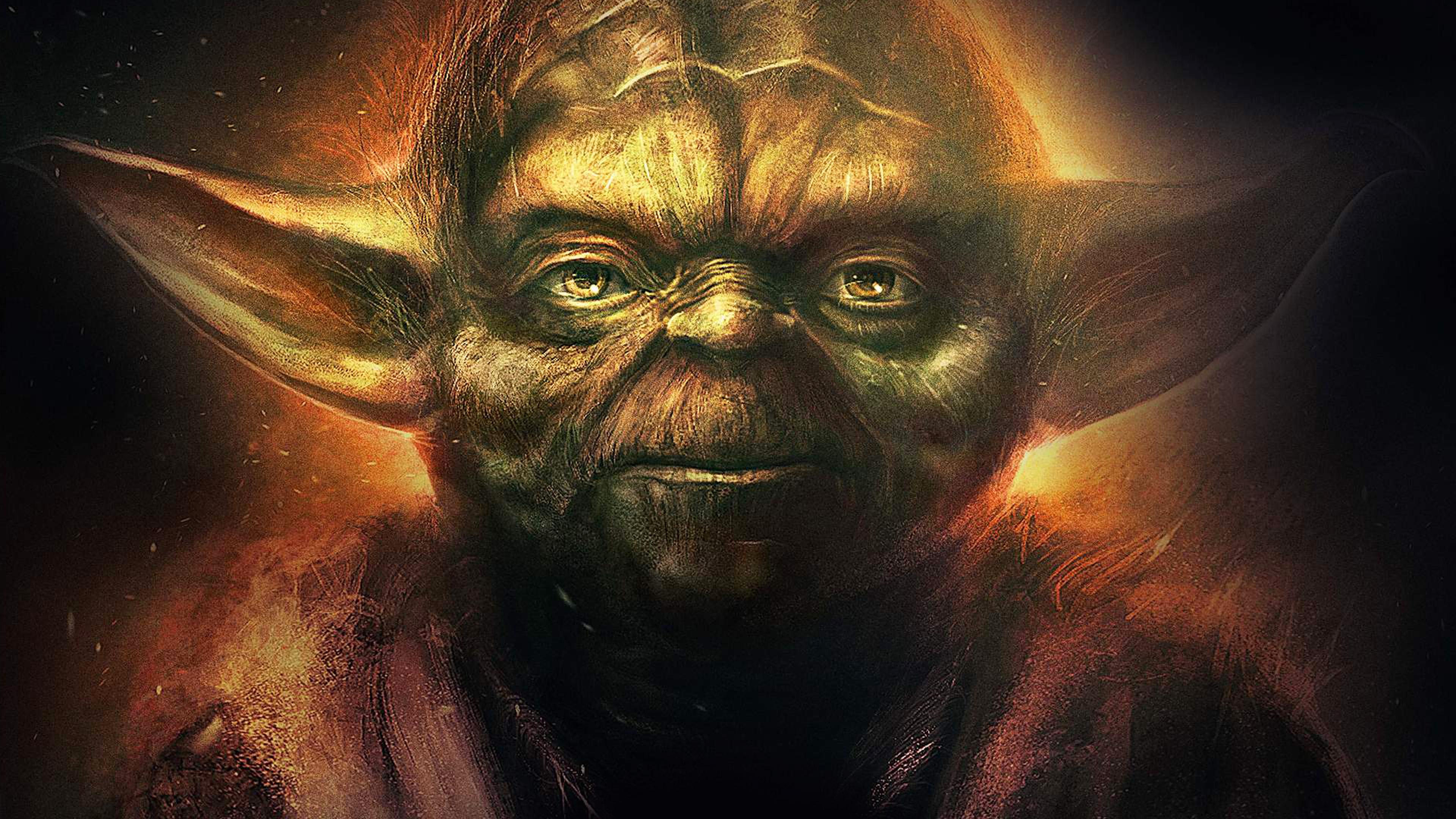 An79 Yoda Starwars Art Dark Illlust Film Poster Papers Co