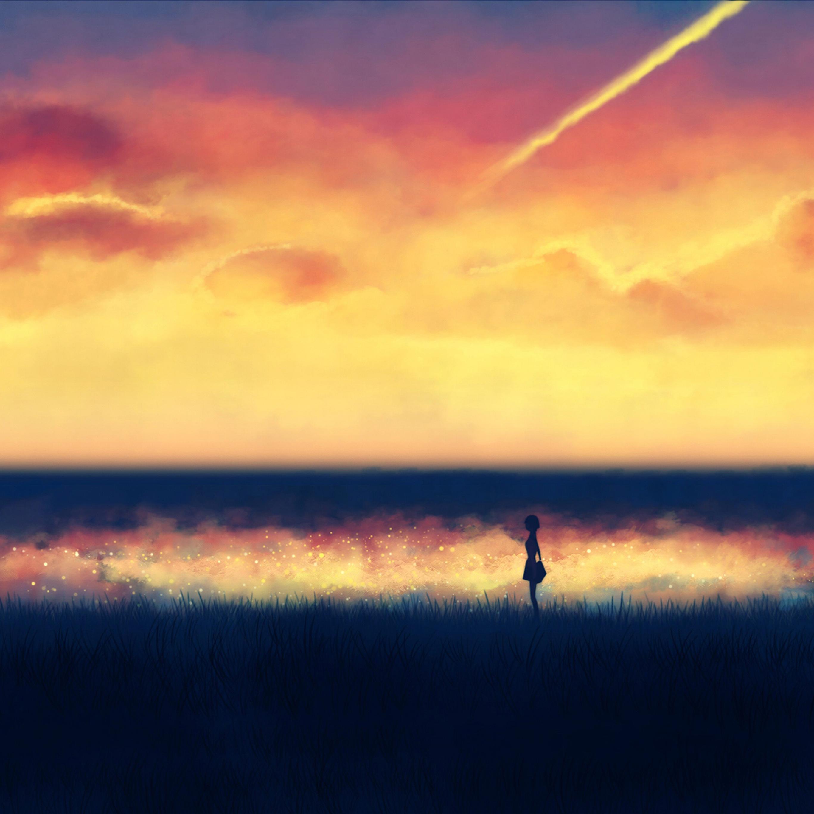 An83-fantasy-lonely-ilust-art-sunset-paint