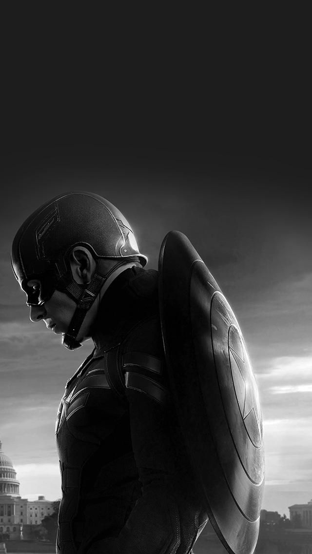 freeios8.com-iphone-4-5-6-plus-ipad-ios8-an85-captain-america-sad-hero-film-marvel-dark-bw