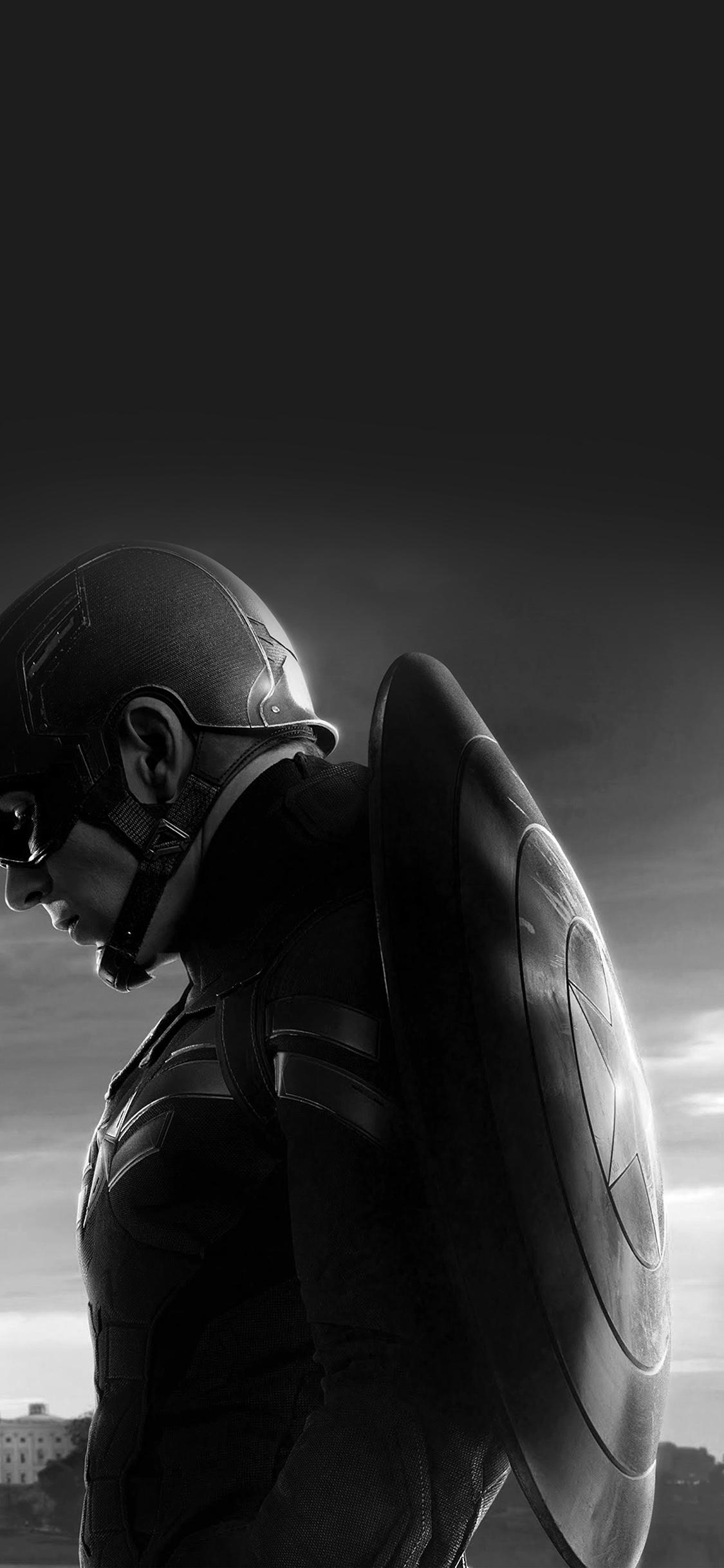 iPhoneXpapers.com-Apple-iPhone-wallpaper-an85-captain-america-sad-hero-film-marvel-dark-bw