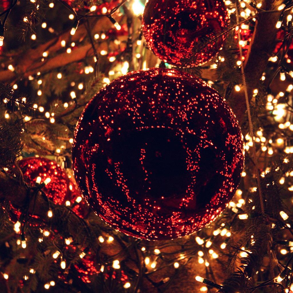 Papersco Ipad Wallpaper An95 Christmas Light Balls