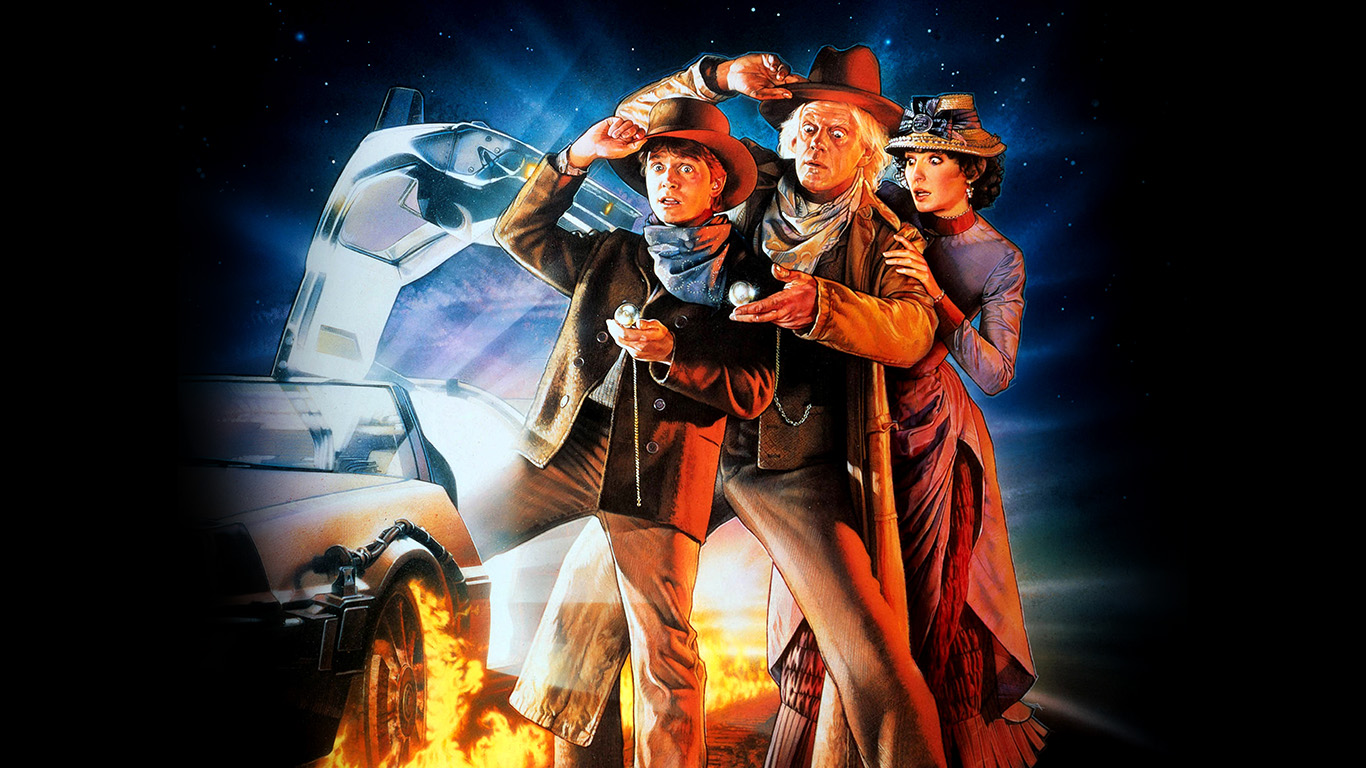 Wallpaper For Desktop Laptop Ao02 Back To The Future 3 Poster