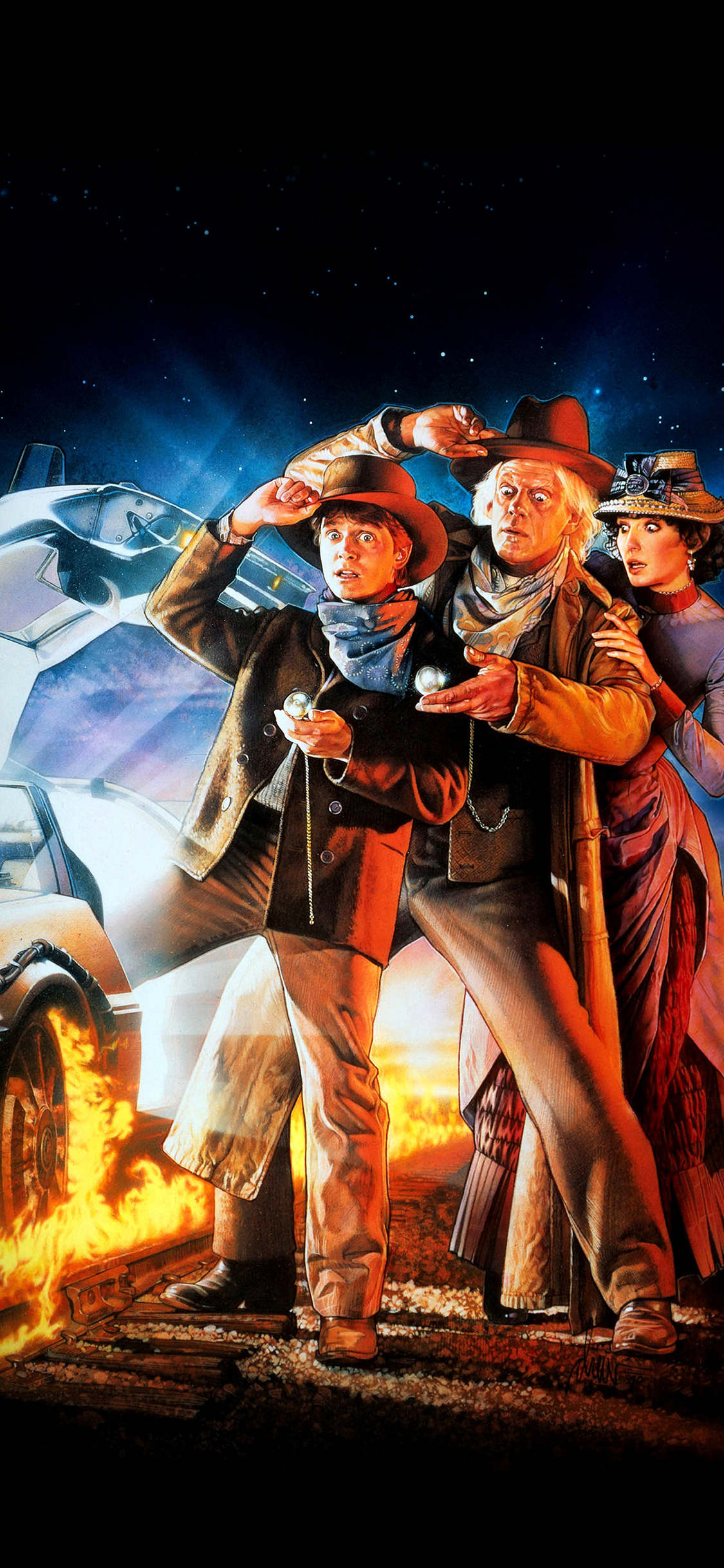 Iphonexpapers Ao02 Back To The Future 3 Poster Film Art