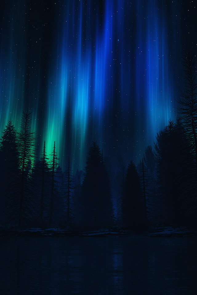 for iPhone X: iPhoneXpapers  Night Sky Aurora Colorado