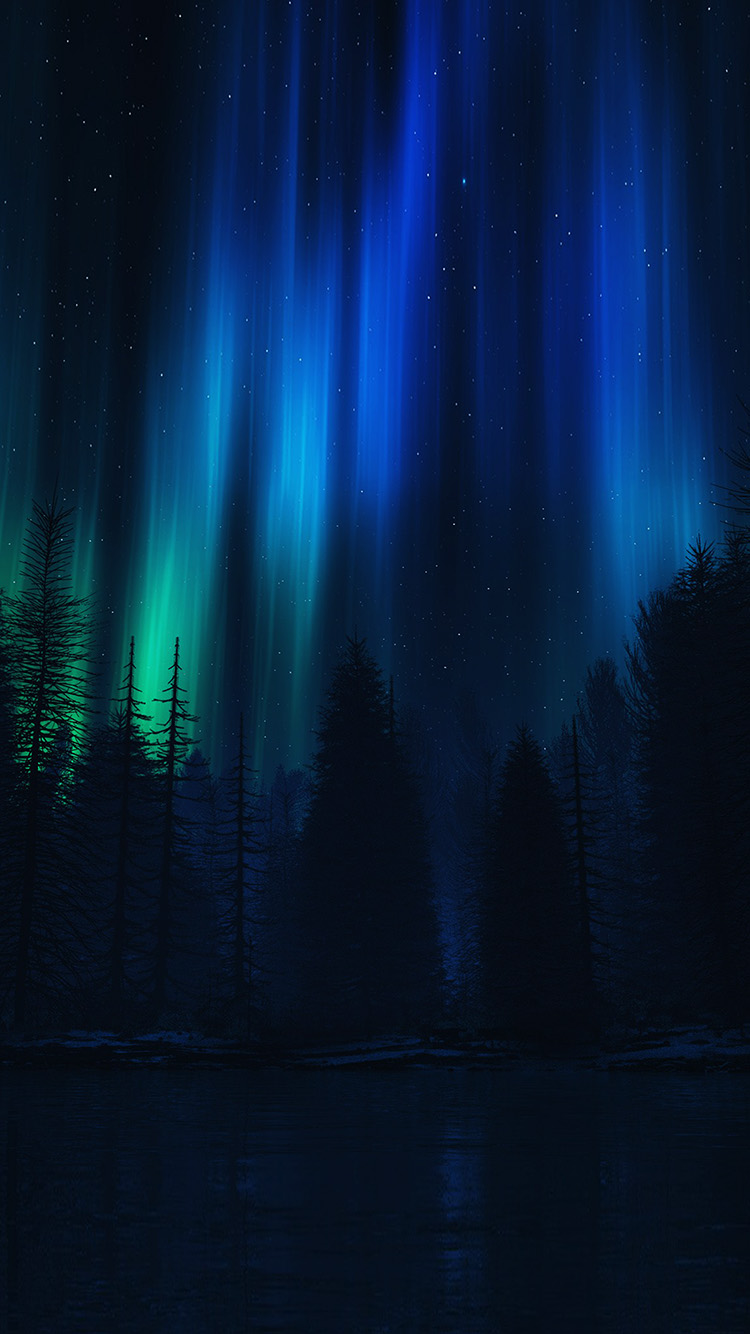 iPhonepapers.com-Apple-iPhone8-wallpaper-ao04-aurora-night-sky-dark-blue-nature-art