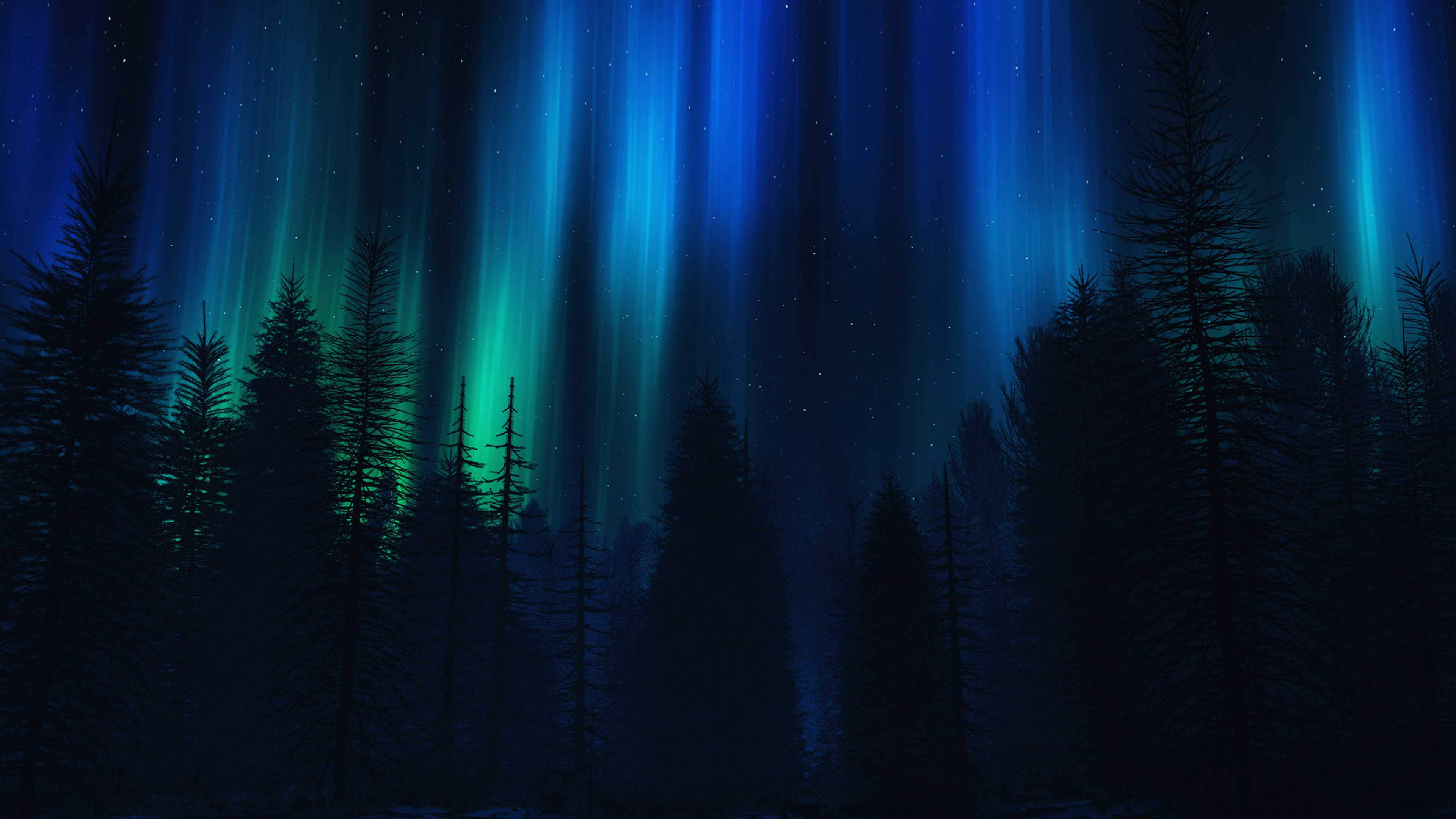 ao04-aurora-night-sky-dark-blue-nature-art - Papers.co