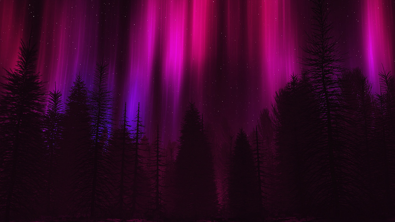desktop-wallpaper-laptop-mac-macbook-air-ao05-aurora-night-sky-dark-red-nature-art-wallpaper