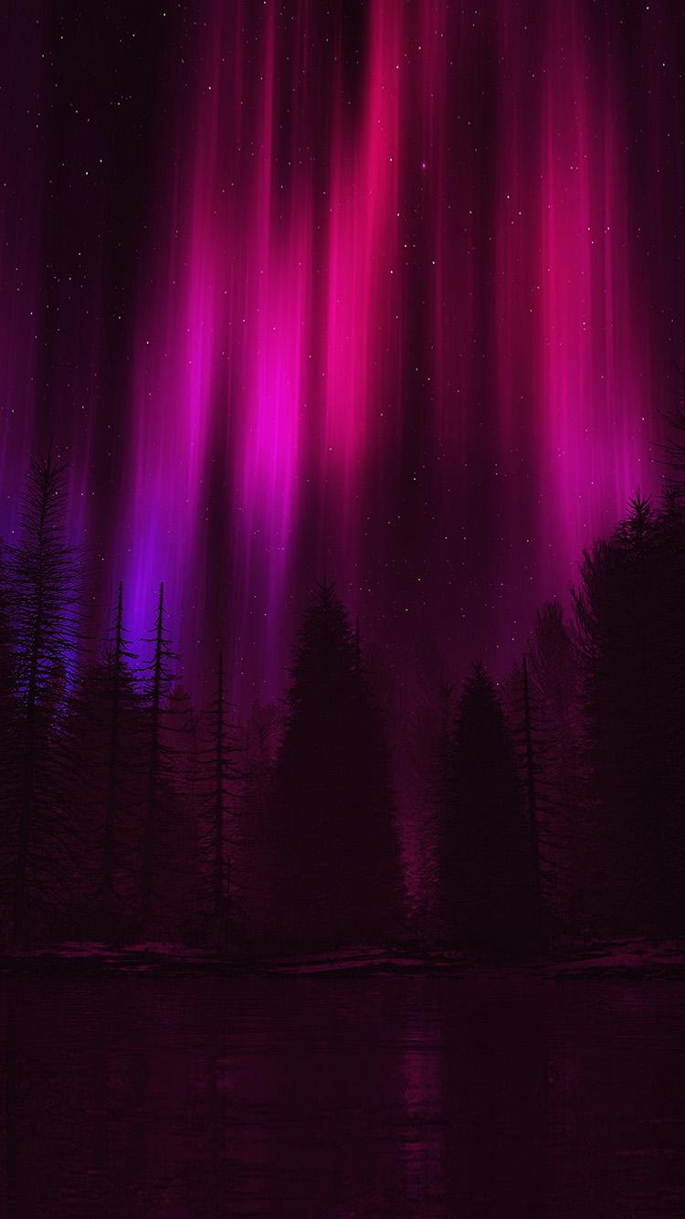 Papers.co-iPhone5-iphone6-plus-wallpaper-ao05-aurora-night-sky-dark-red-nature-art