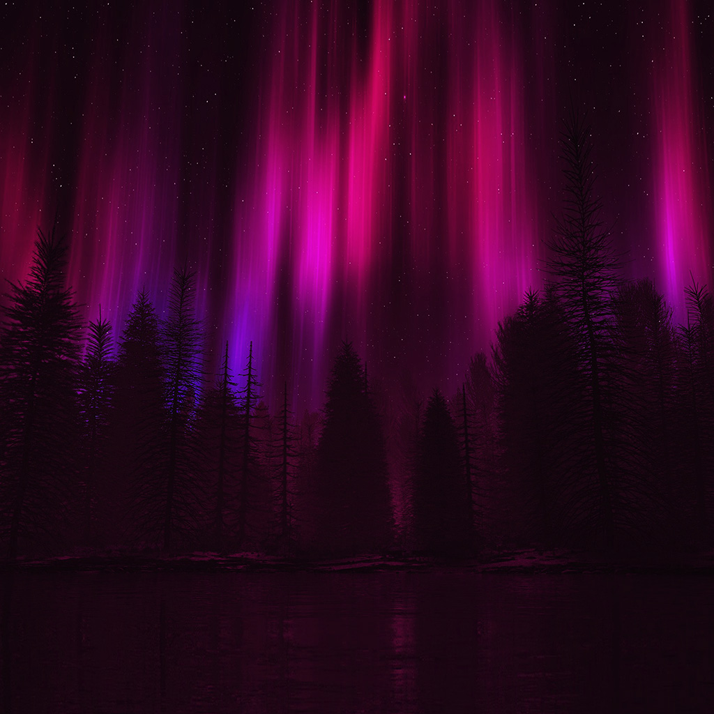 wallpaper-ao05-aurora-night-sky-dark-red-nature-art-wallpaper