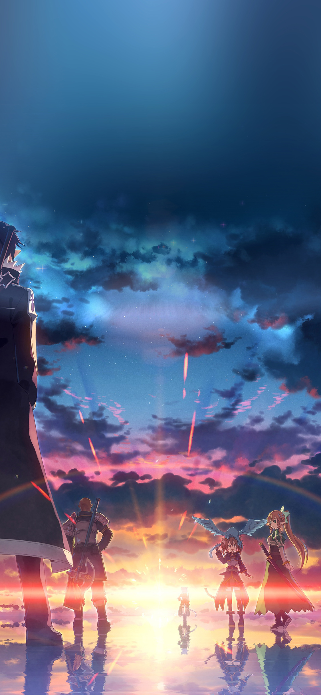 Papers Co Iphone Wallpaper Ao16 Anime Art Sunset Drawing
