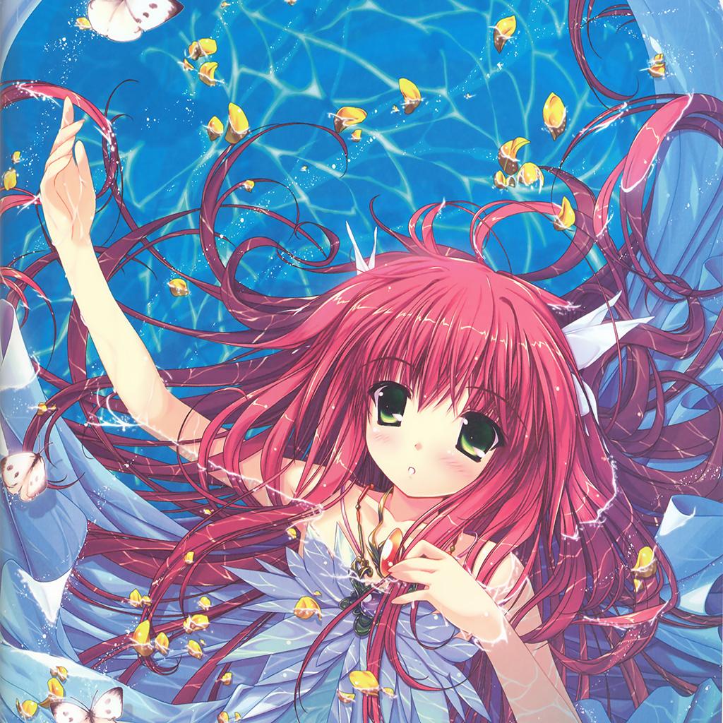 android-wallpaper-ao17-water-anime-swimming-girl-art-wallpaper