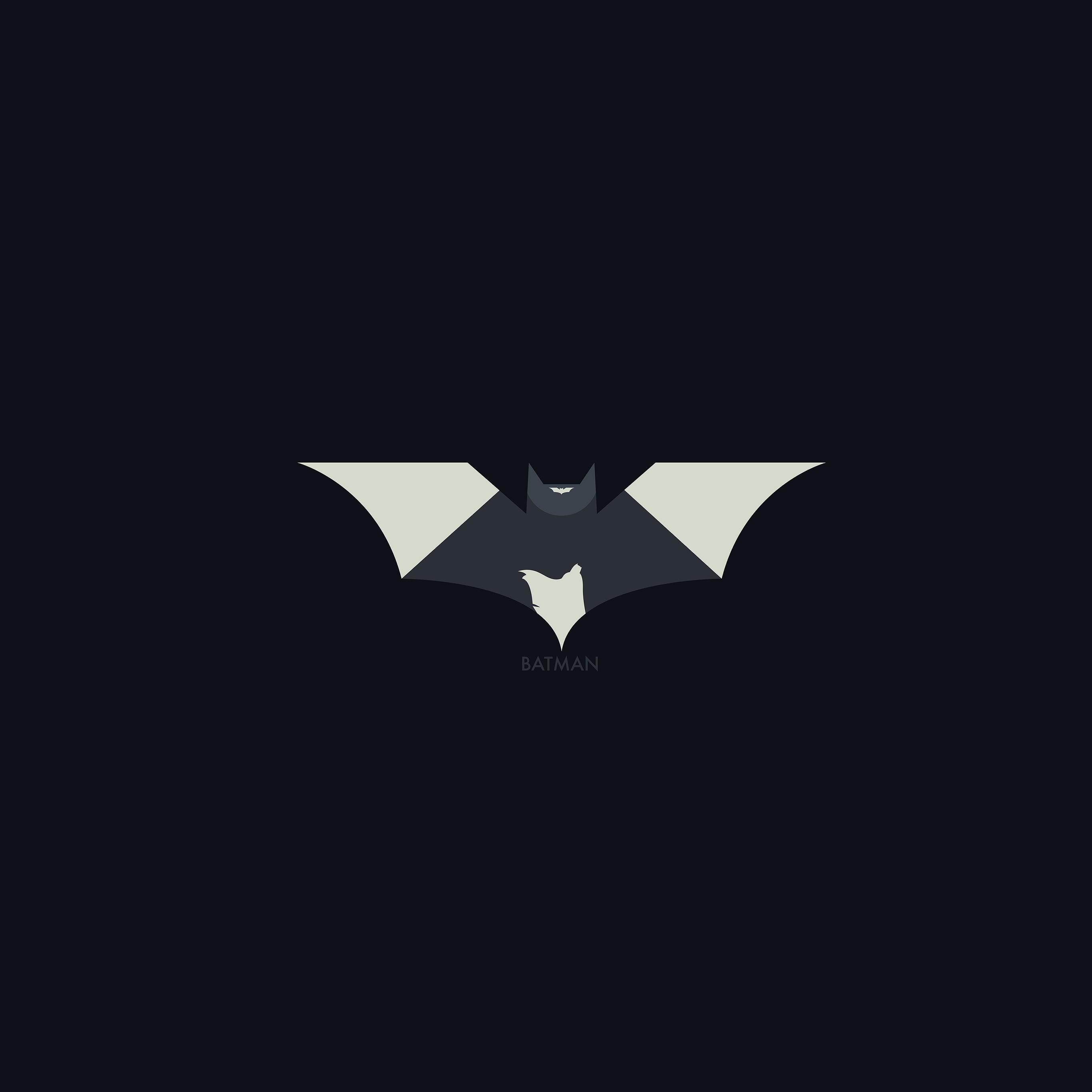 I love papers ao28 hugoli art batman minimal logo illust for Minimal art logo
