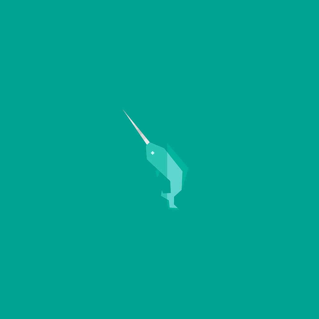 wallpaper-ao32-geometric-green-whale-minimal-wallpaper