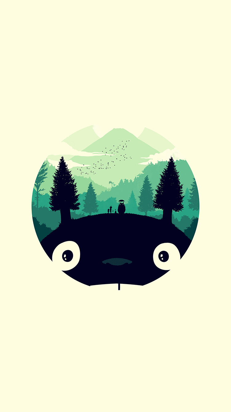 iPhonepapers.com-Apple-iPhone8-wallpaper-ao36-totoro-art-illust-simple-cute