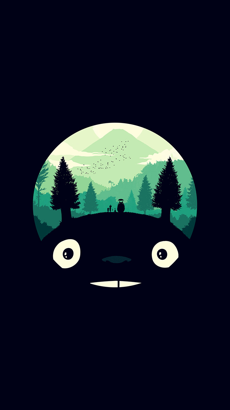 iPhone7papers.com-Apple-iPhone7-iphone7plus-wallpaper-ao38-totoro-art-illust-simple-cute-dark