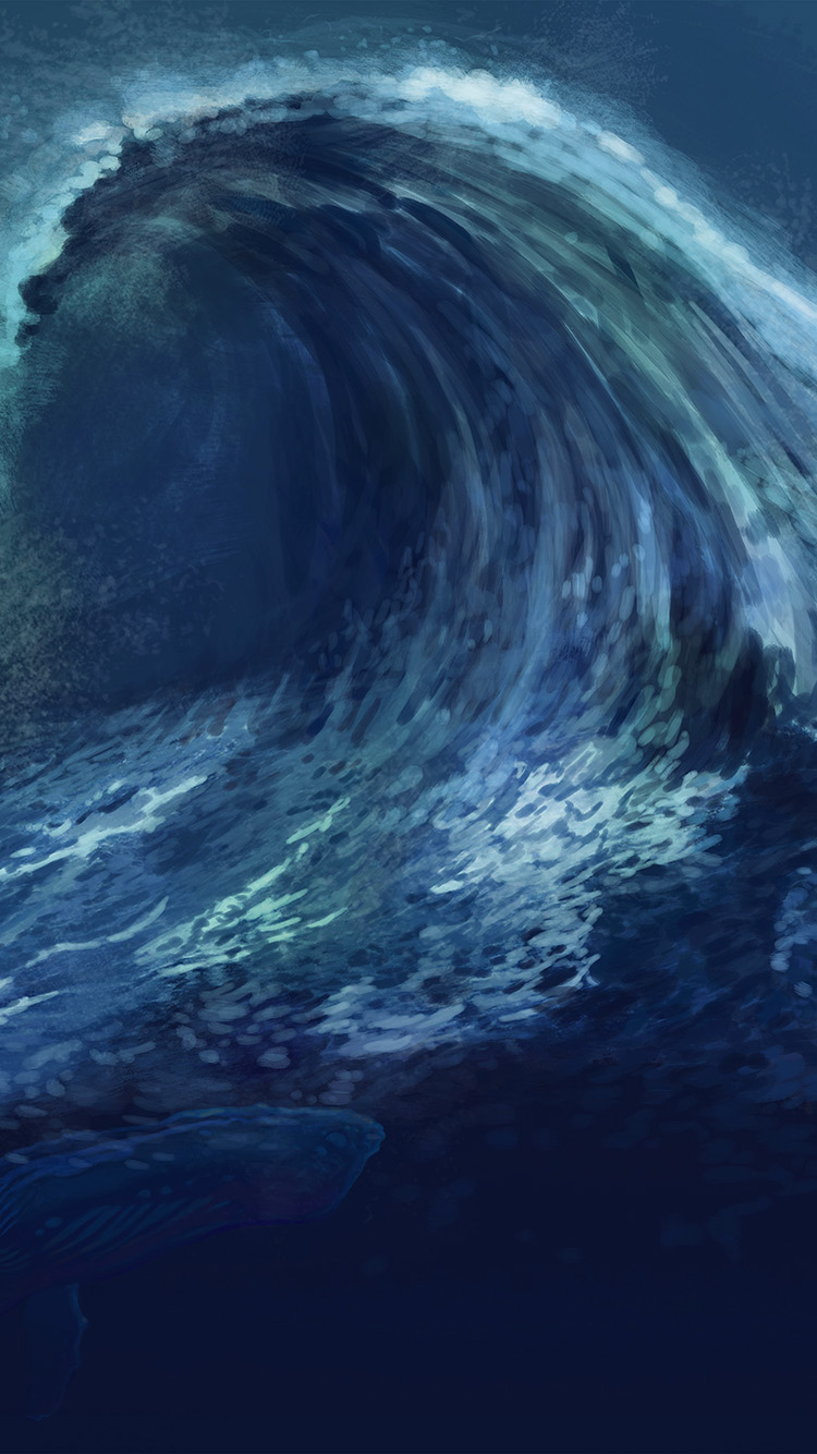 Papers.co-iPhone5-iphone6-plus-wallpaper-ao60-wave-blue-whale-art-illust