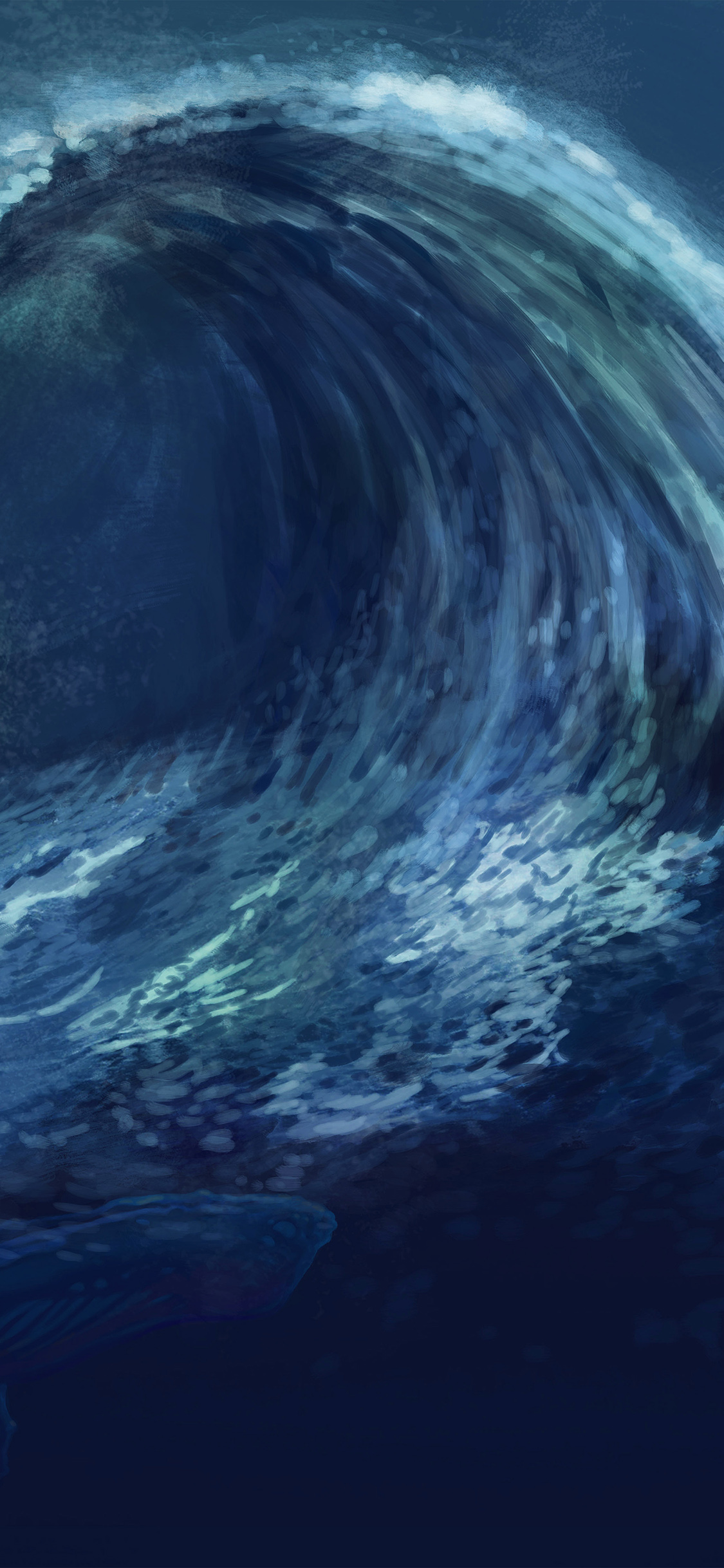 iPhoneXpapers.com-Apple-iPhone-wallpaper-ao60-wave-blue-whale-art-illust