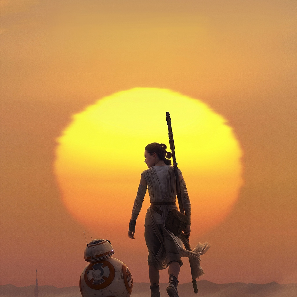 Papers Co Android Wallpaper Ao73 Force Awakens Starwars Art Rey