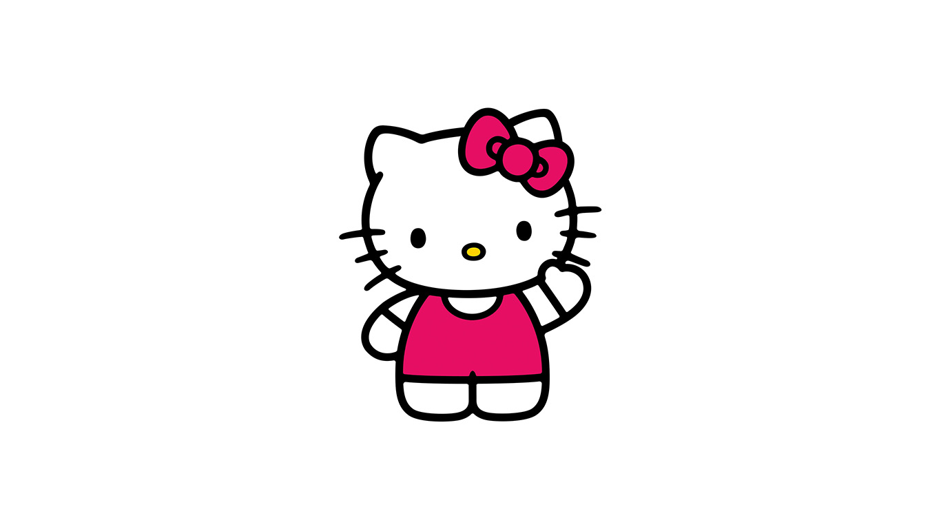 Ao80 Hello Kitty Art Cute Logo Minimal Papers