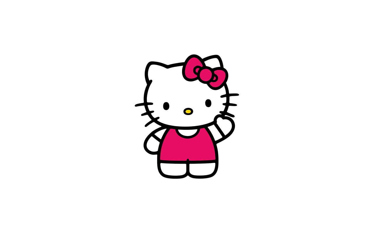 ao80-hello-kitty-art-cute-logo-minimal - Papers.co