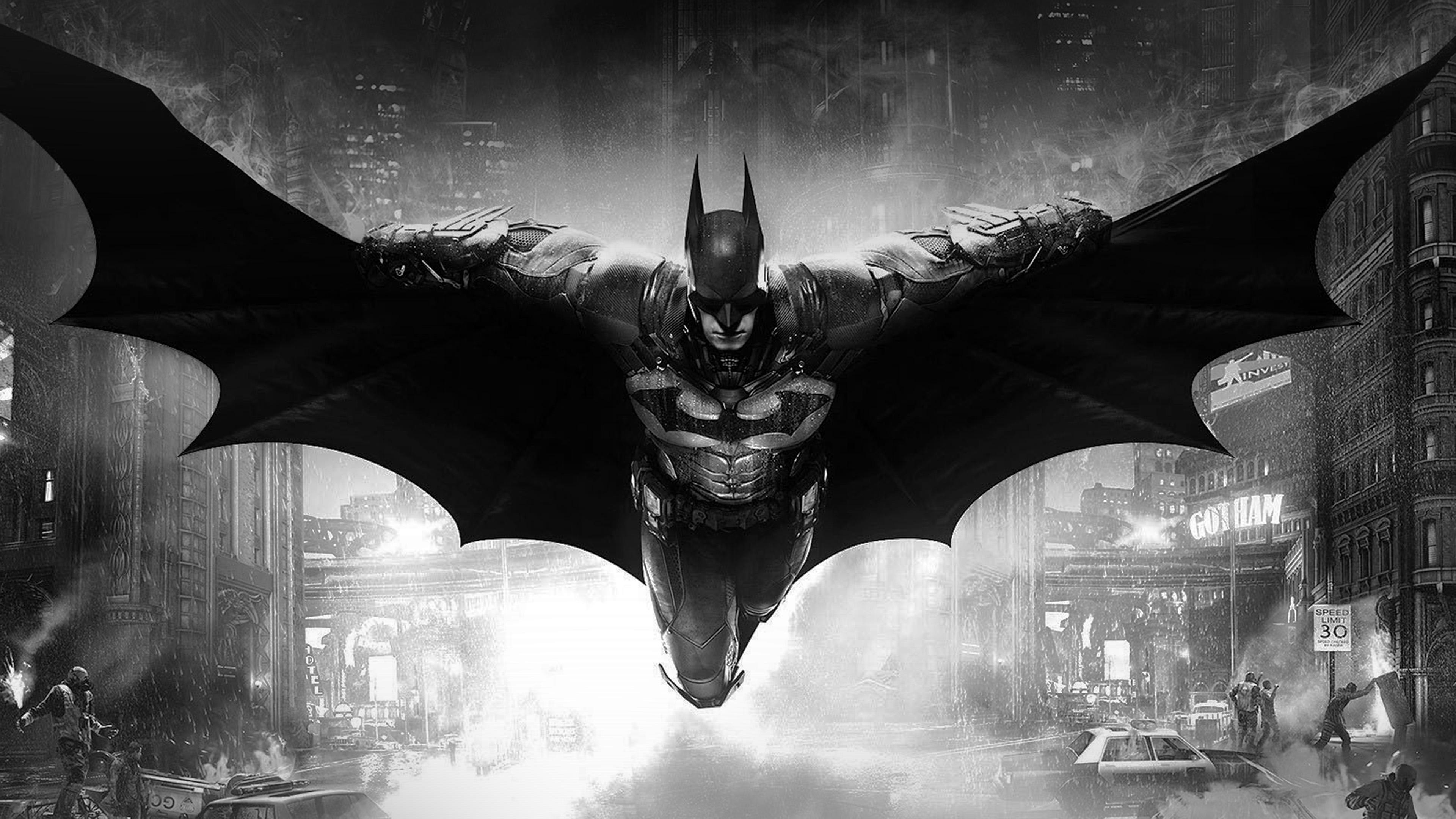 Ao83 Batman Dark Bw Game Hero Art Illust Wallpaper