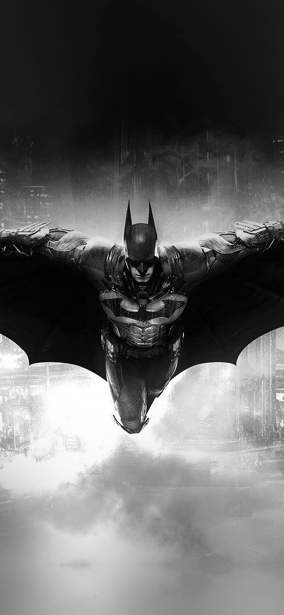 Iphonexpapers Com Iphone X Wallpaper Ao83 Batman Dark Bw Game Hero Art Illust